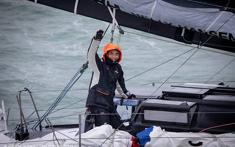 The Japanese skipper has made history: he is the first Asian to have mastered the toughest solo regatta in the world.
